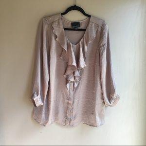 Cynthia Rowley ruffle blouse
